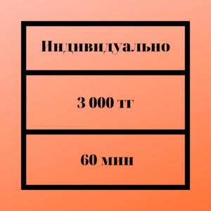 Цены на индвидуальное обучение по французскому в Алматы